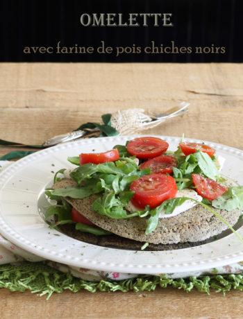Omelette de pois chiches noirs sans gluten - La Cassata Celiaca