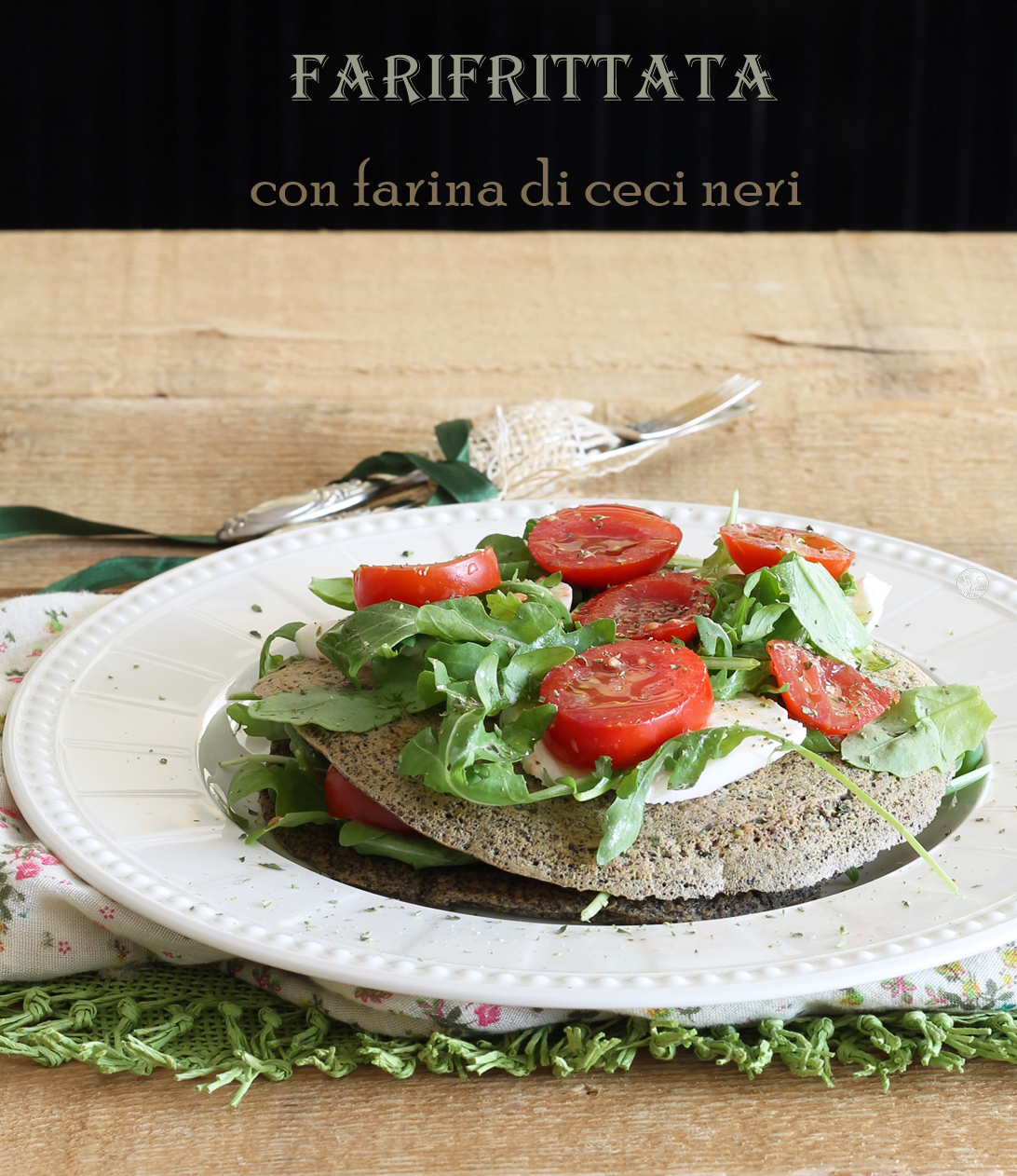 Frittata di ceci neri senza glutine - La Cassata Celiaca
