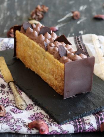Millefeuille sans gluten au cacao - La Cassata Celiaca