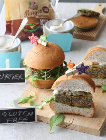 Burger sans gluten aux pois chiches noirs et fausse mayonnaise - La Cassata Celiaca