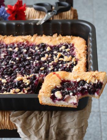 Focaccia dolce senza glutine ai mirtilli - La Cassata Celiaca