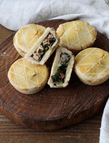 Mini tarte salée sans gluten avec chicorée - La Cassata Celiaca