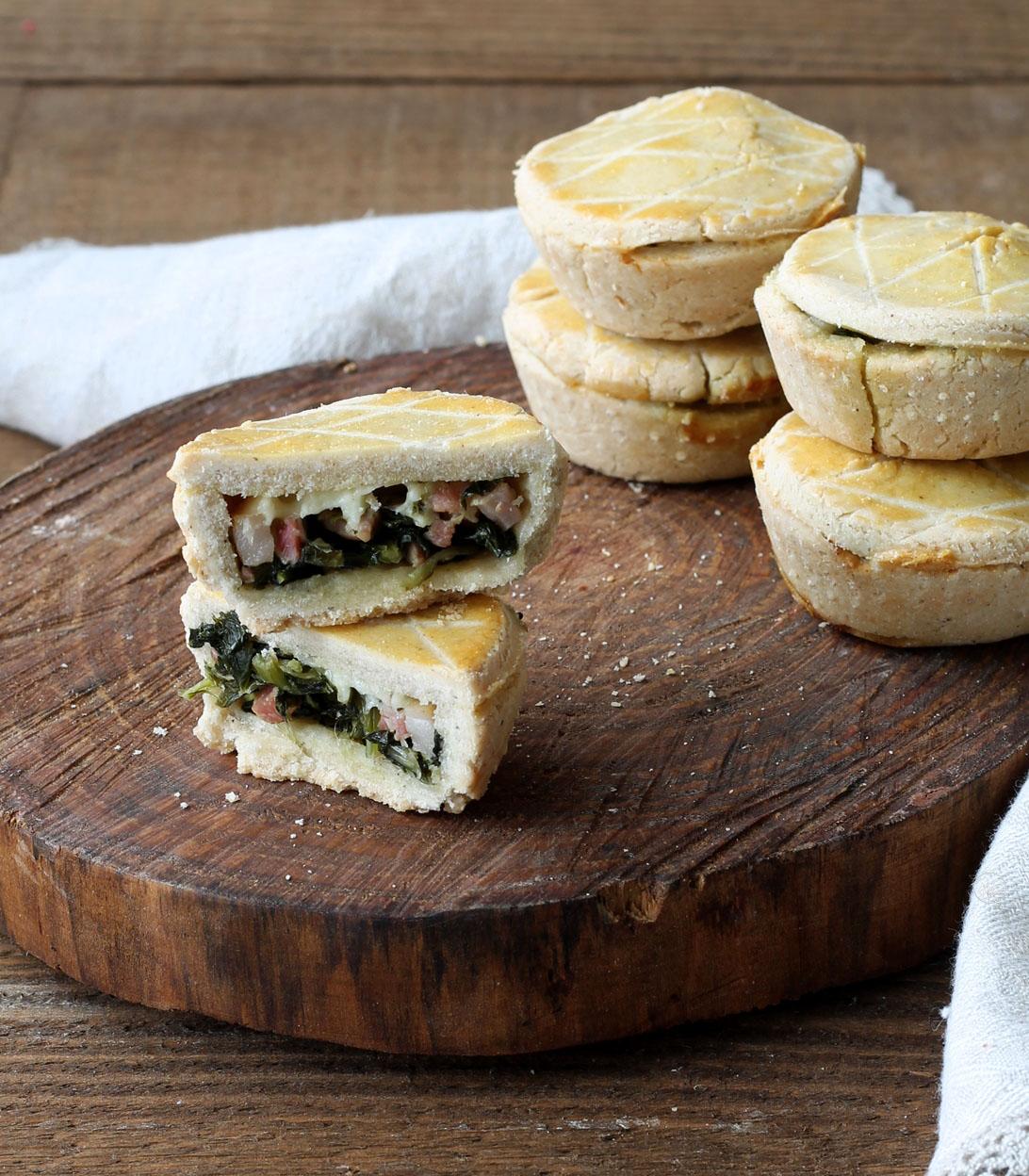 Mini torta salata alla cicoria senza glutine - La Cassata Celiaca
