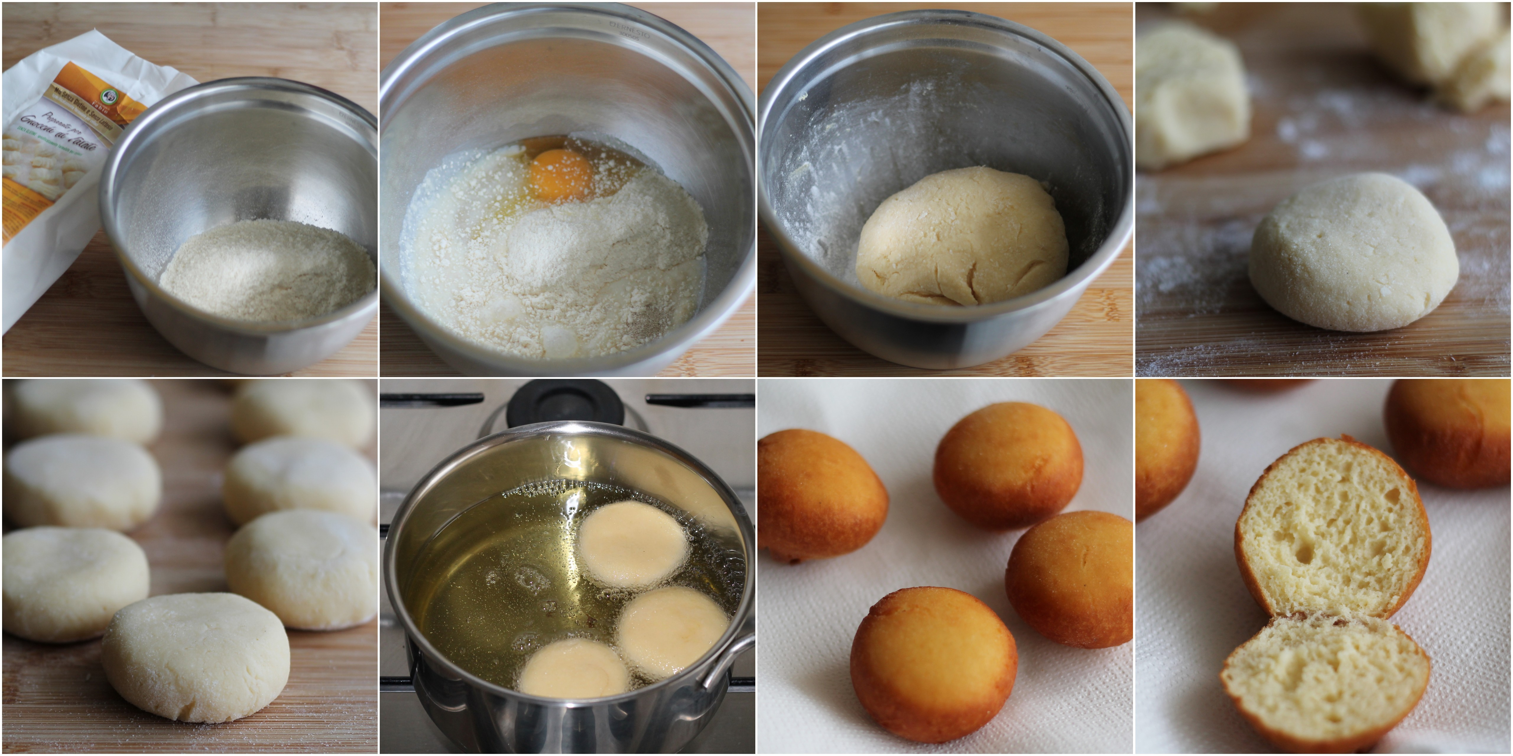 Petits pains frits sans gluten- La Cassata Celiaca
