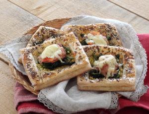 Sfoglia senza glutine con spinaci, prosciutto e formaggio - La Cassata Celiaca