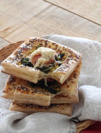 Feuilletés sans gluten aux épinards, jambon et fromage - La Cassata Celiaca