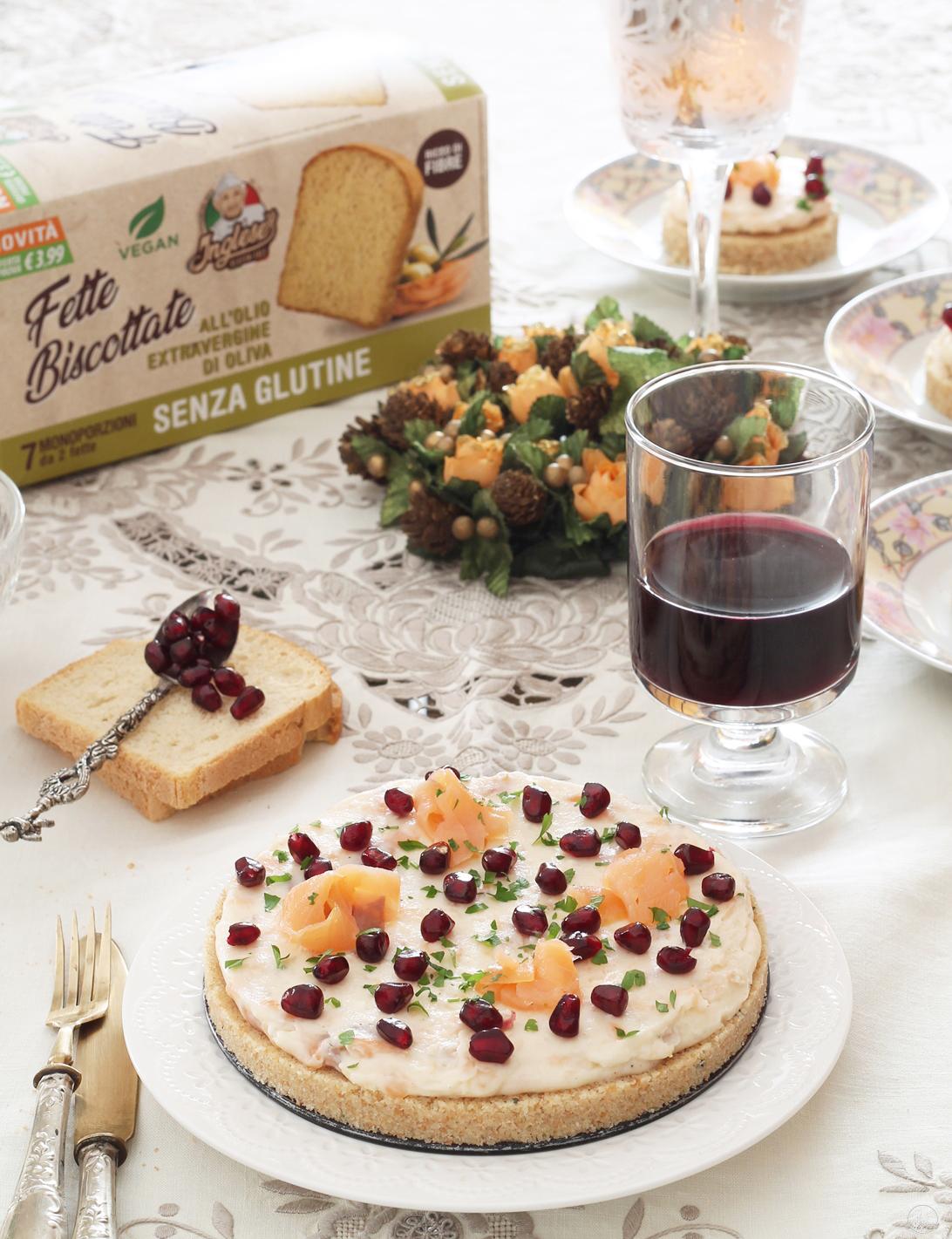 Cheesecake sans gluten avec fromage et saumon - La Cassata Celiaca