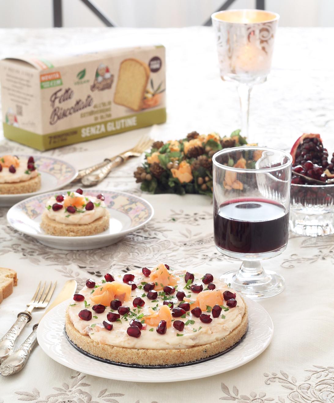 Cheesecake senza glutine con stracchino e salmone - La Cassata Celiaca