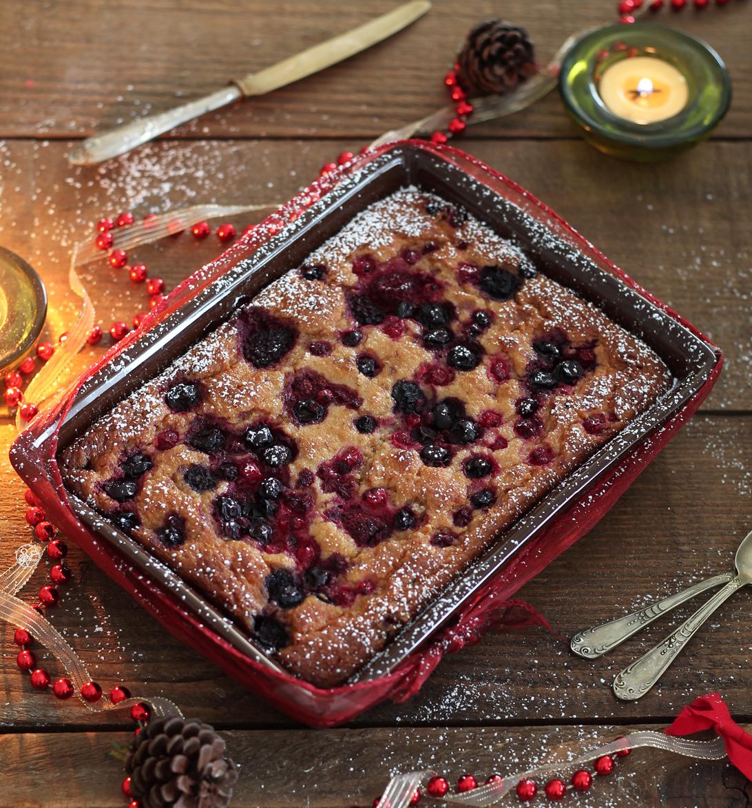 Cake au pandoro et aux fruits de bois sans gluten - La Cassata Celiaca
