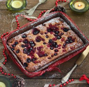 Dolce con pandoro e frutti di bosco senza glutine - La Cassata Celiaca