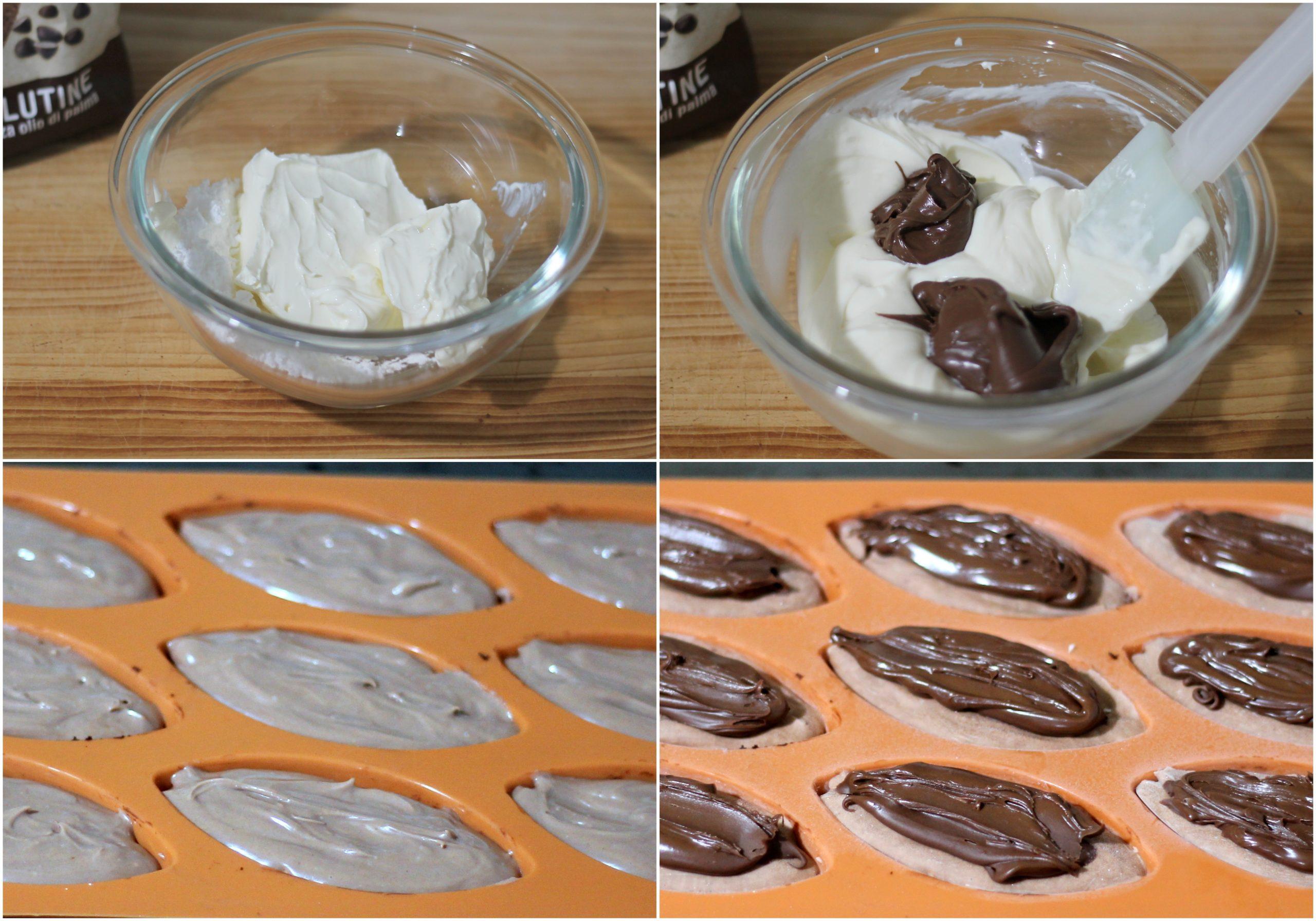 Mini cheesecake senza glutine con crema di nocciole - La Cassata Celiaca