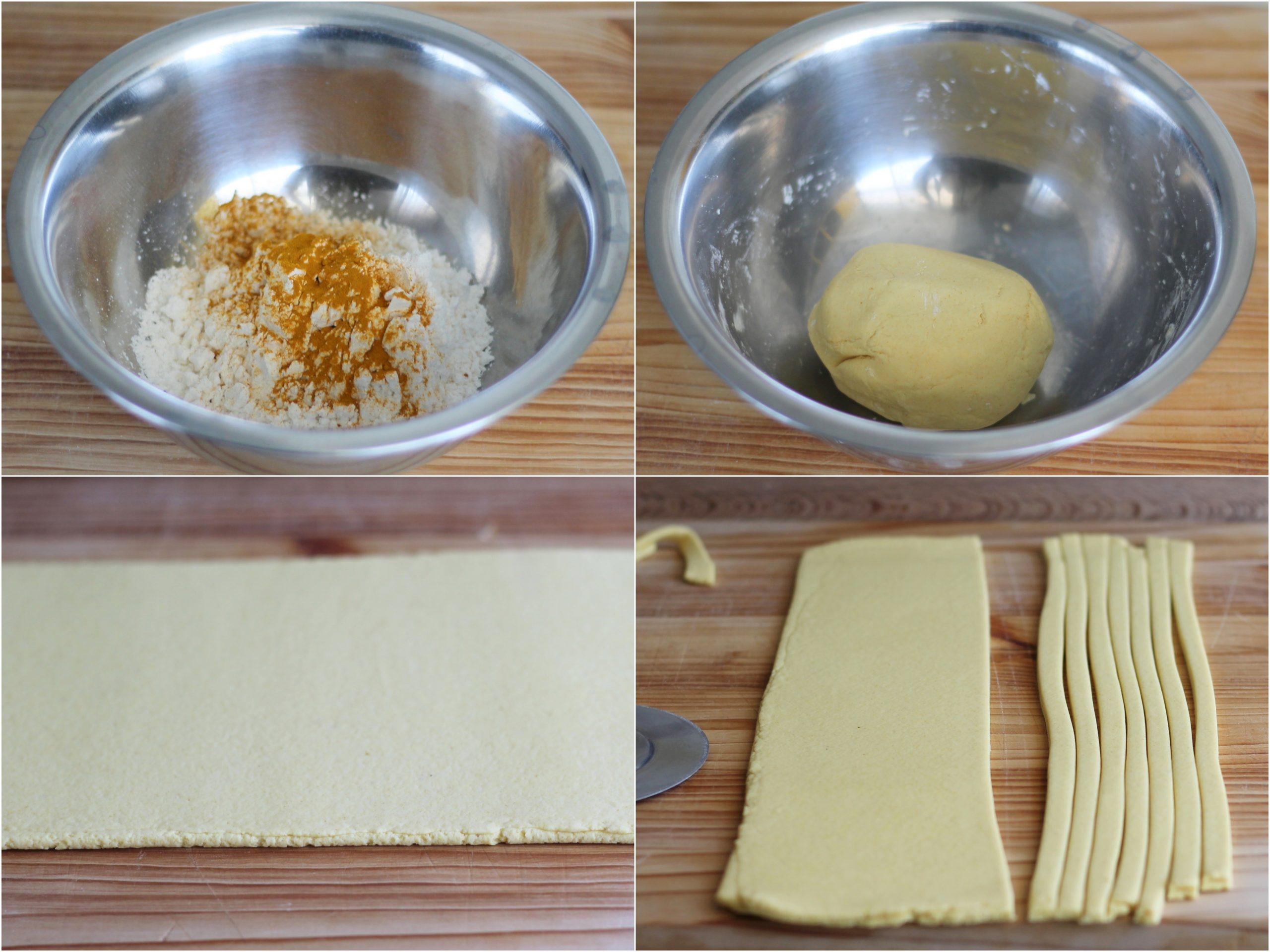 Troccoli alla curcuma senza glutine e senza uova - La Cassata Celiaca
