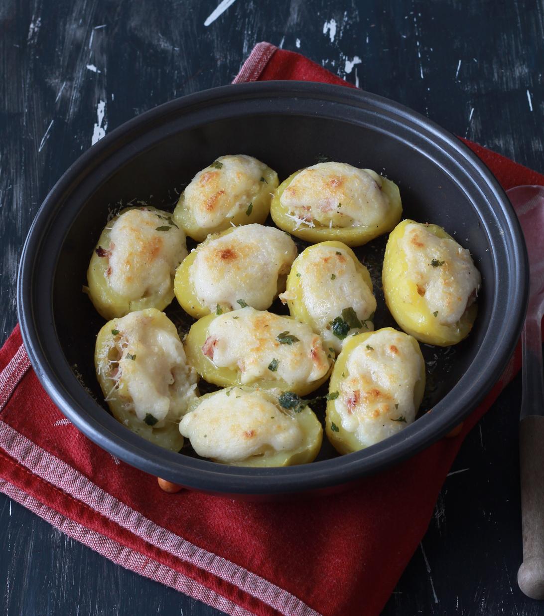 Patate ripiene con prosciutto e besciamella senza glutine - La Cassata Celiaca