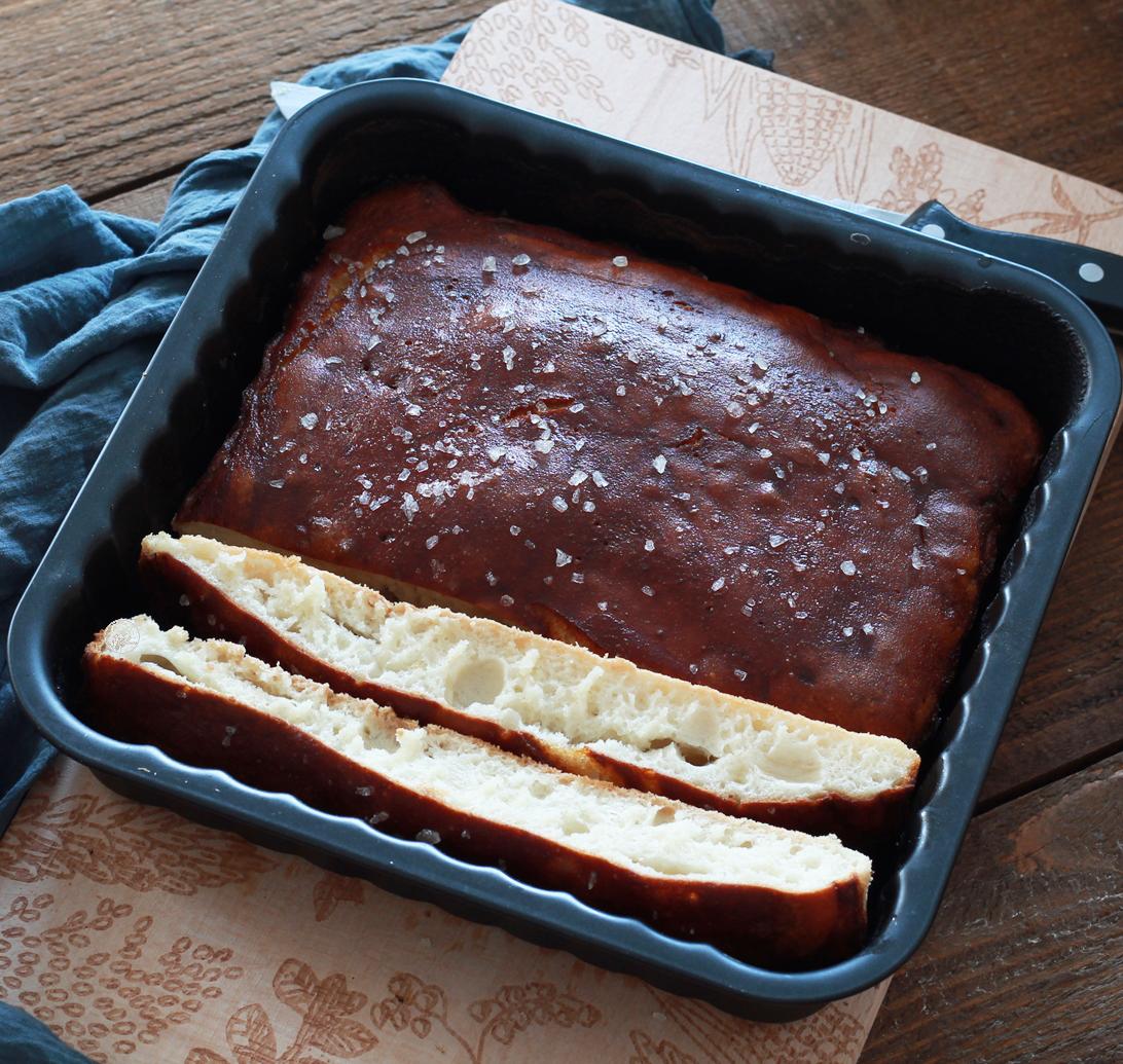 Pretzel focaccia senza glutine - La Cassata Celiaca
