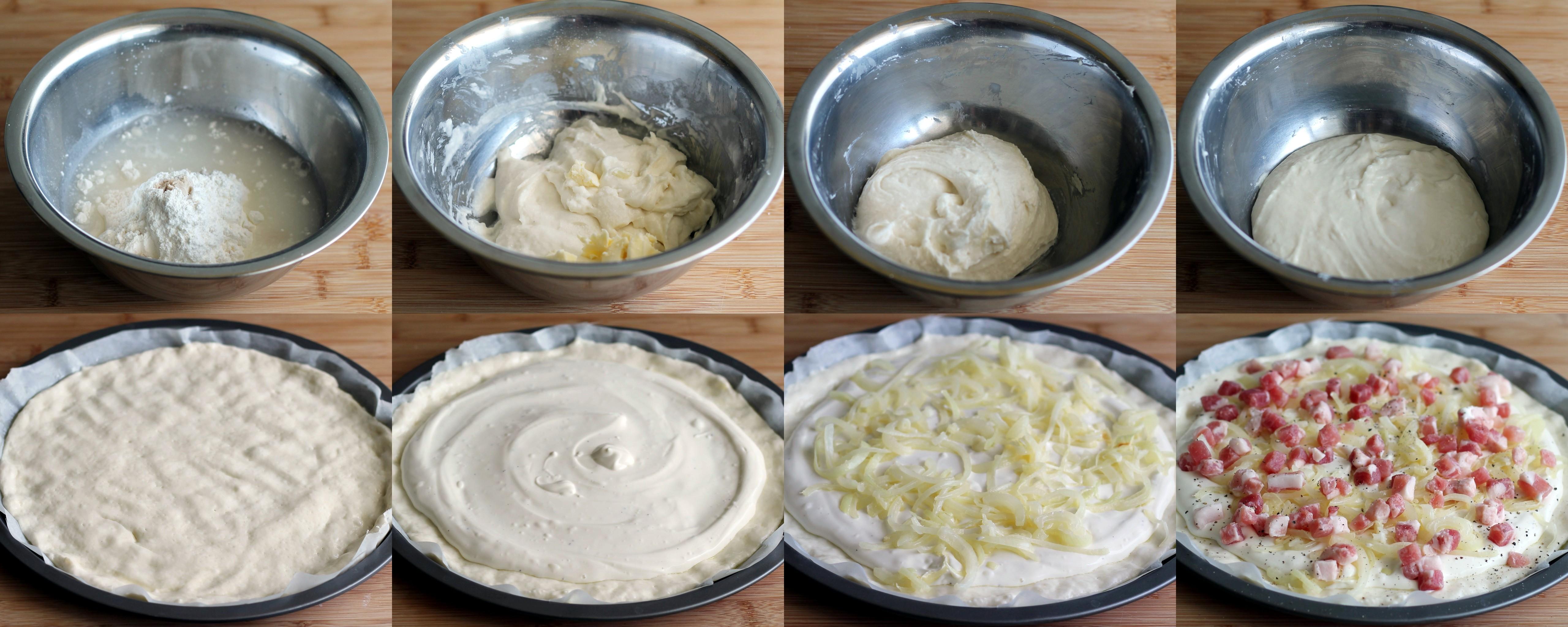 Flammekueche, tarte flambée sans gluten - La Cassata Celiaca