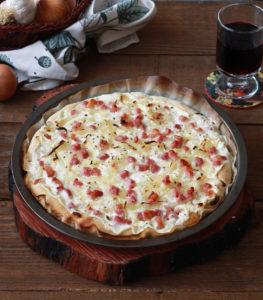 Flammekueche, tarte flambée senza glutine - La Cassata Celiaca