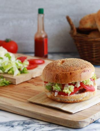 Hamburger sans gluten au bœuf et au fromage - La Cassata Celiaca