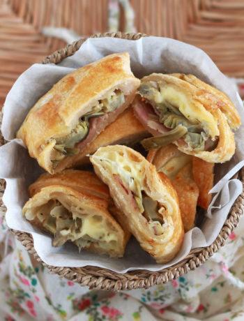 Feuilleté sans gluten aux artichauts et au fromage - La Cassata Celiaca