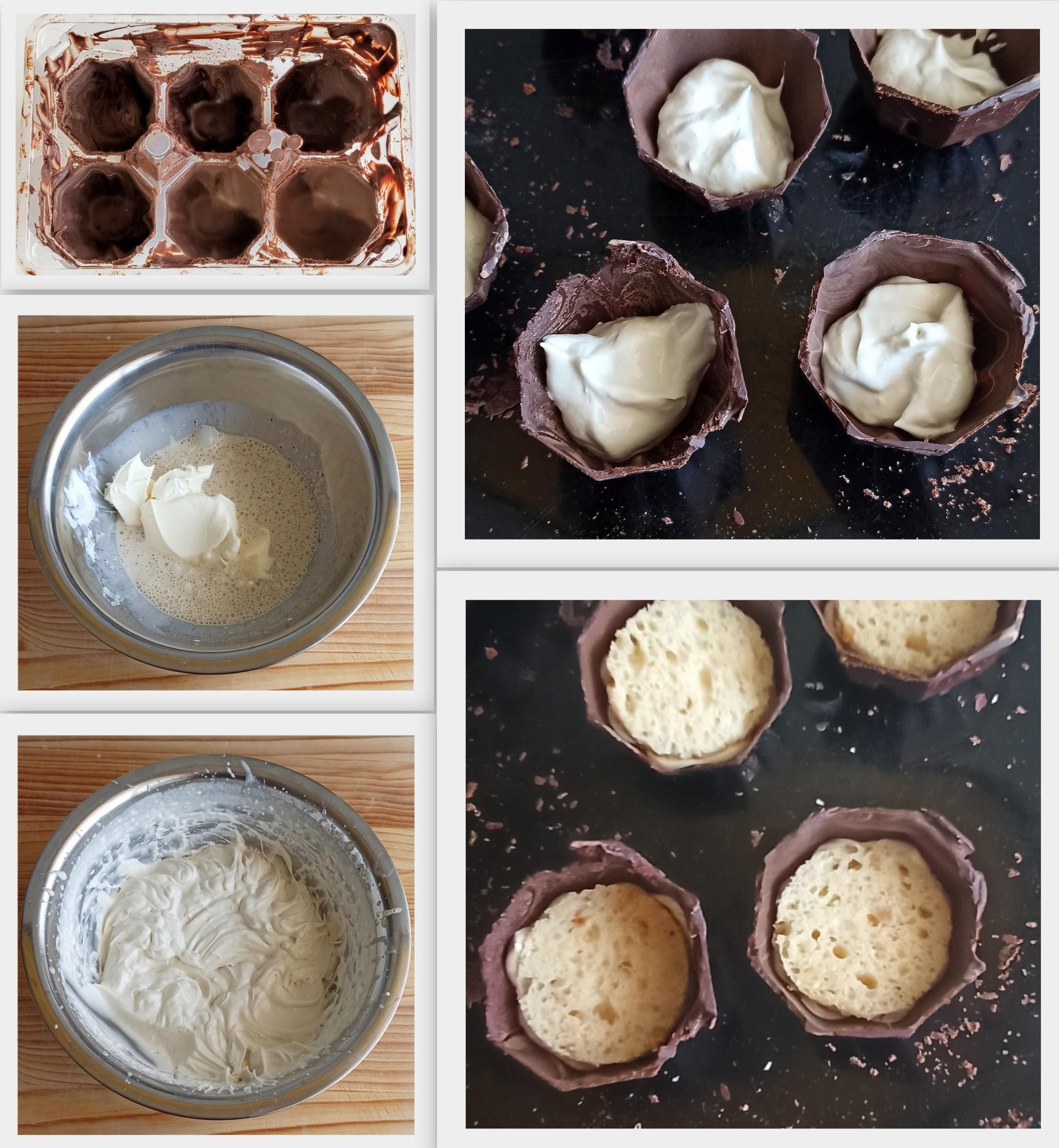 Cestini di cioccolato con crema al mascarpone senza glutine - La Cassata Celiaca