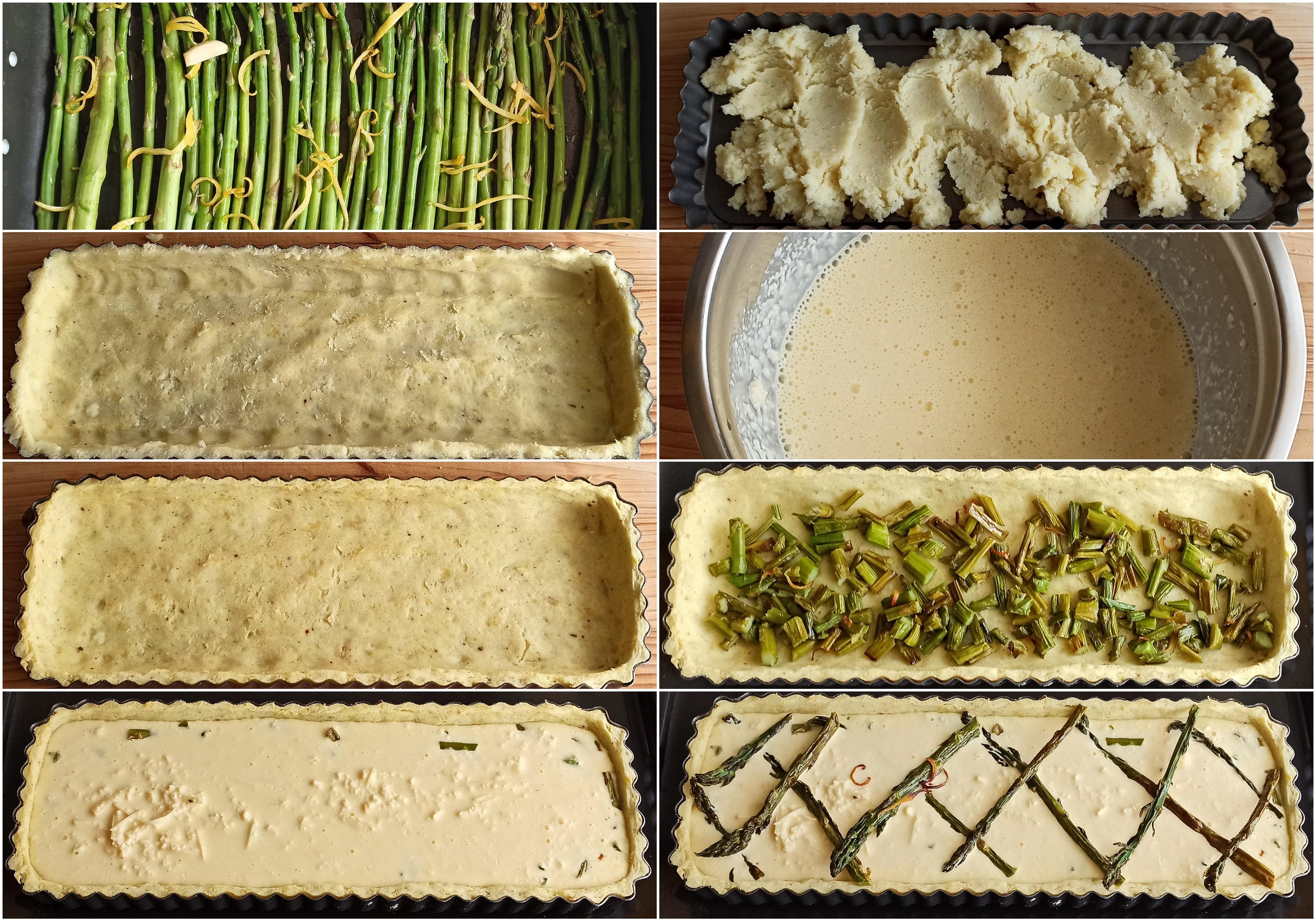 Crostata di patate e asparagi senza glutine - La Cassata Celiaca