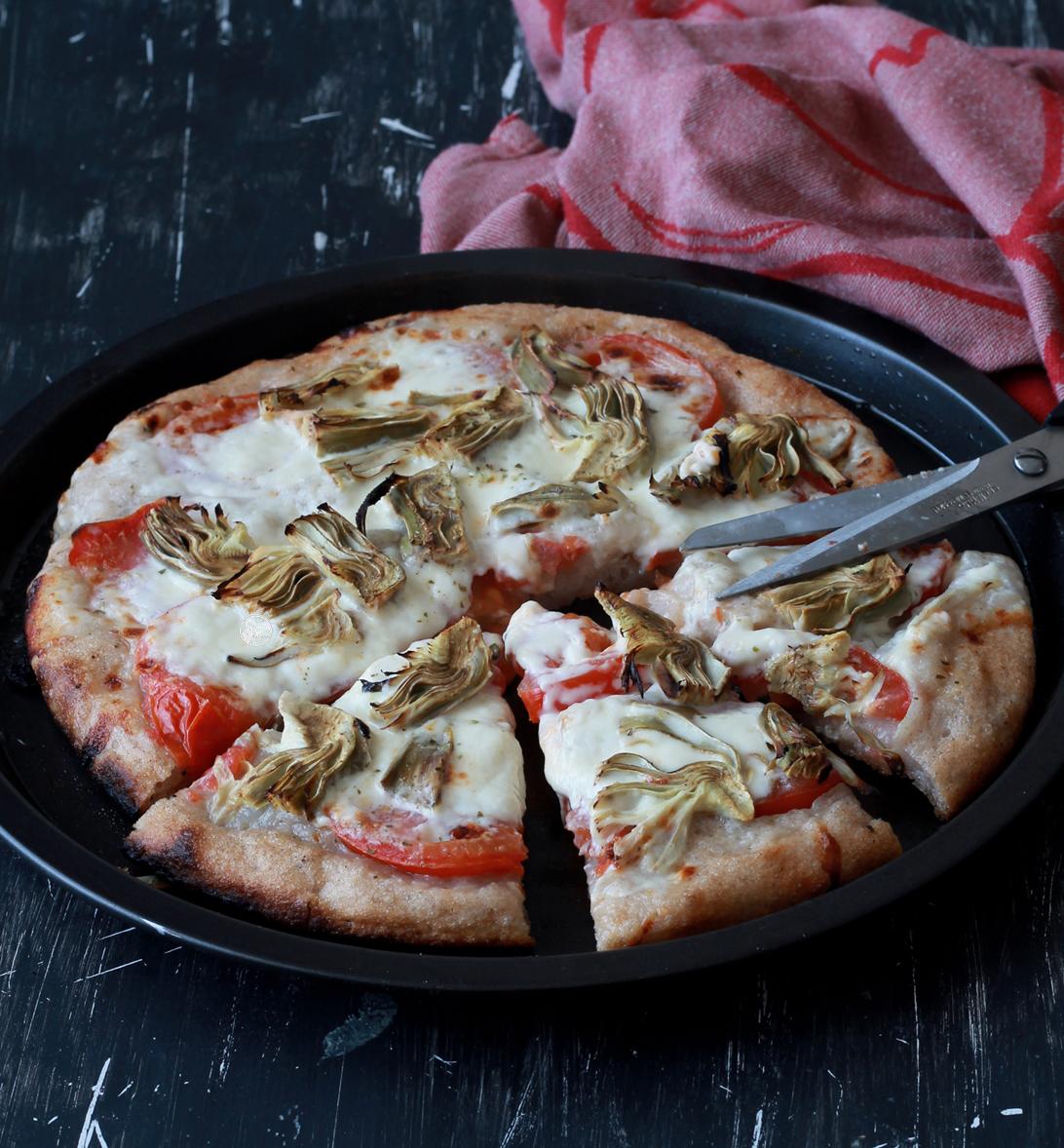 Focaccia sans gluten et sans maïs aux artichauts - La Cassata Celiaca