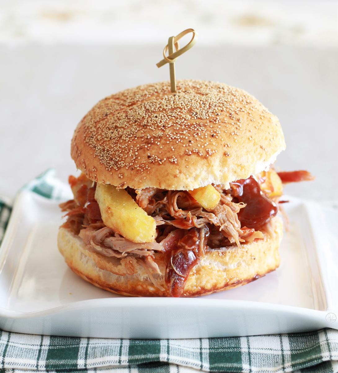Pulled pork burger senza glutine - La Cassata Celiaca