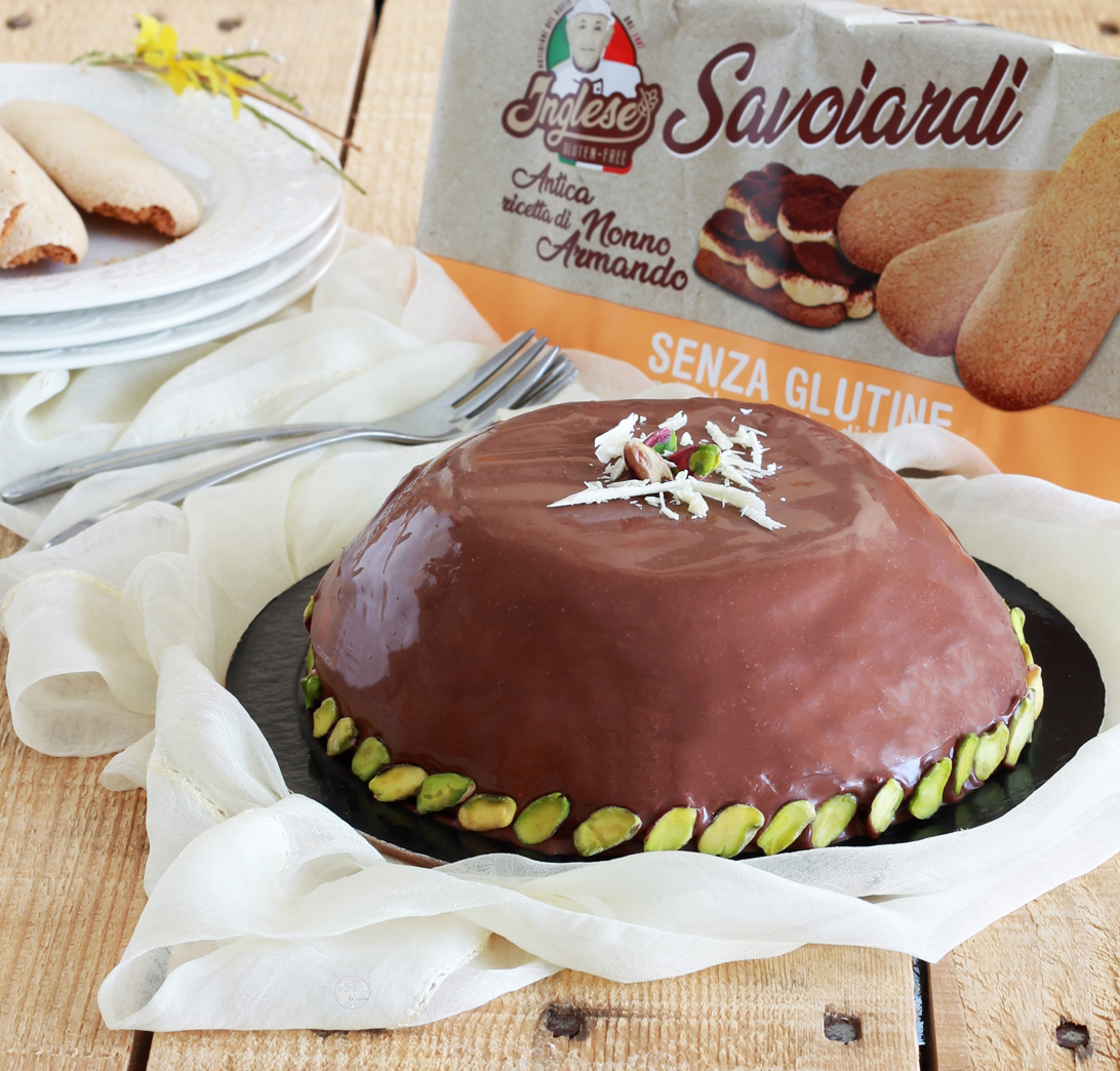 Zuccotto alla ricotta senza glutine - La Cassata Celiaca