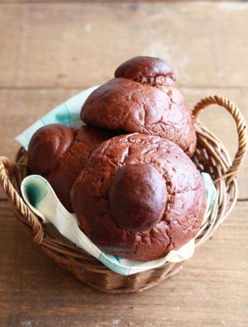Brioche col tuppo senza glutine al cacao - La Cassata Celiaca