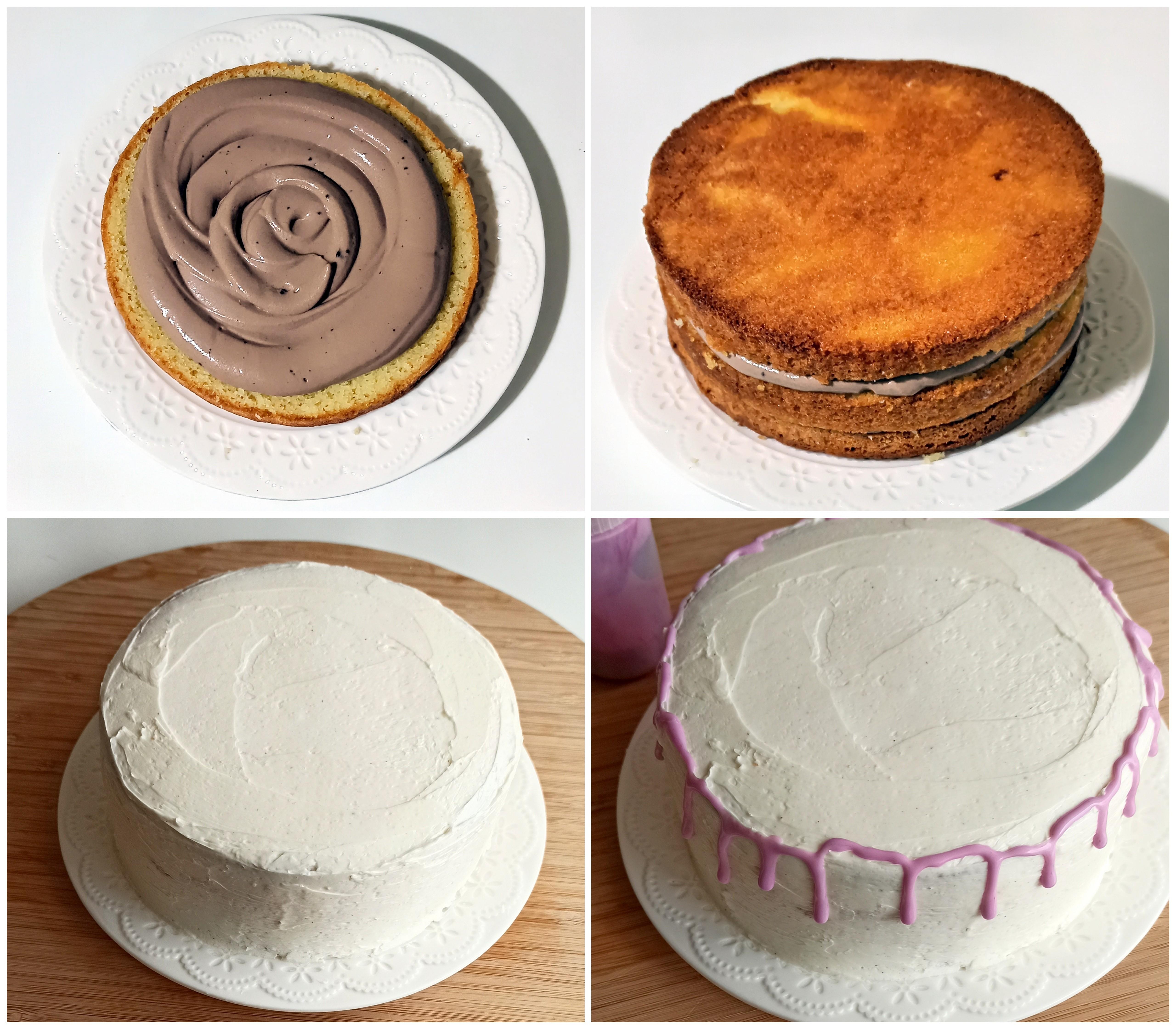 Sponge cake sans gluten à la crème au beurre meringuée - La Cassata Celiaca