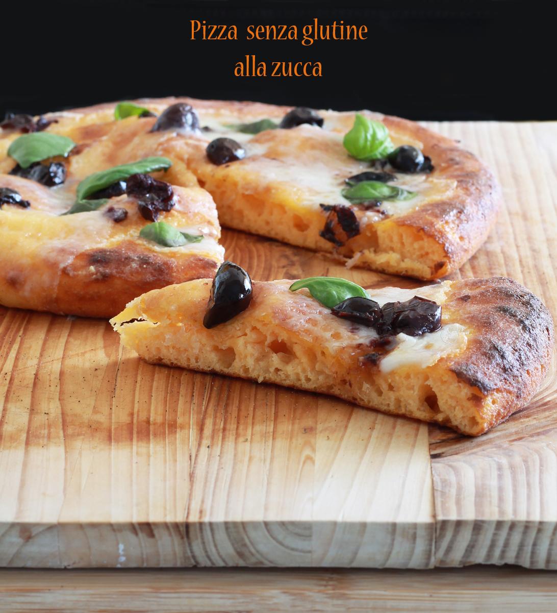 Pizza alla zucca senza glutine con caprino e olive nere - La Cassata