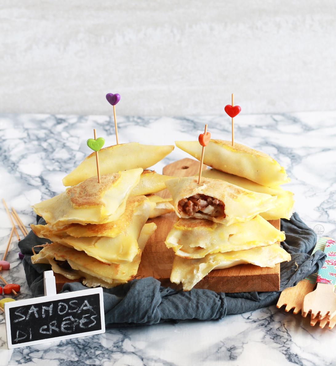 Samosa di crêpes senza glutine - La Cassata Celiaca