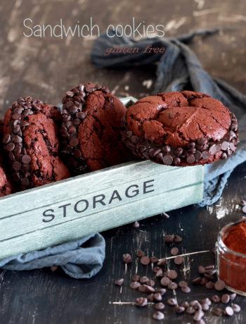 Sandwich cookies au chocolat sans gluten - La Cassata Celiaca