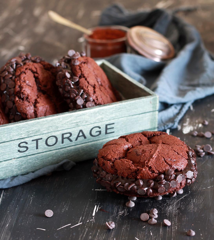 Sandwich cookies al cioccolato senza glutine - La Cassata Celiaca
