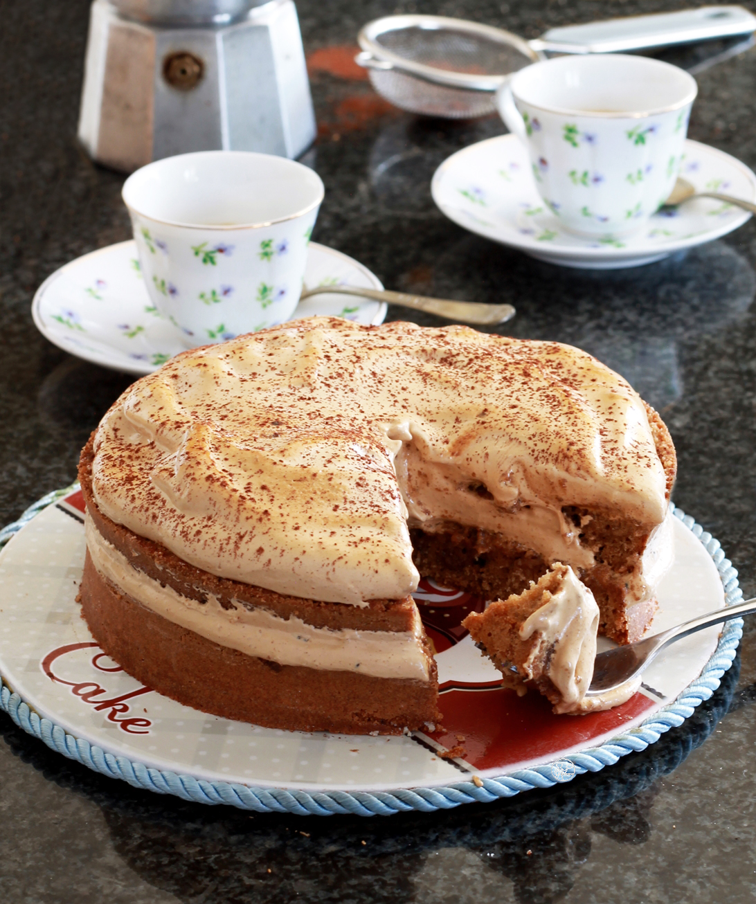 Dalgona cake sans gluten - La Cassata Celiaca