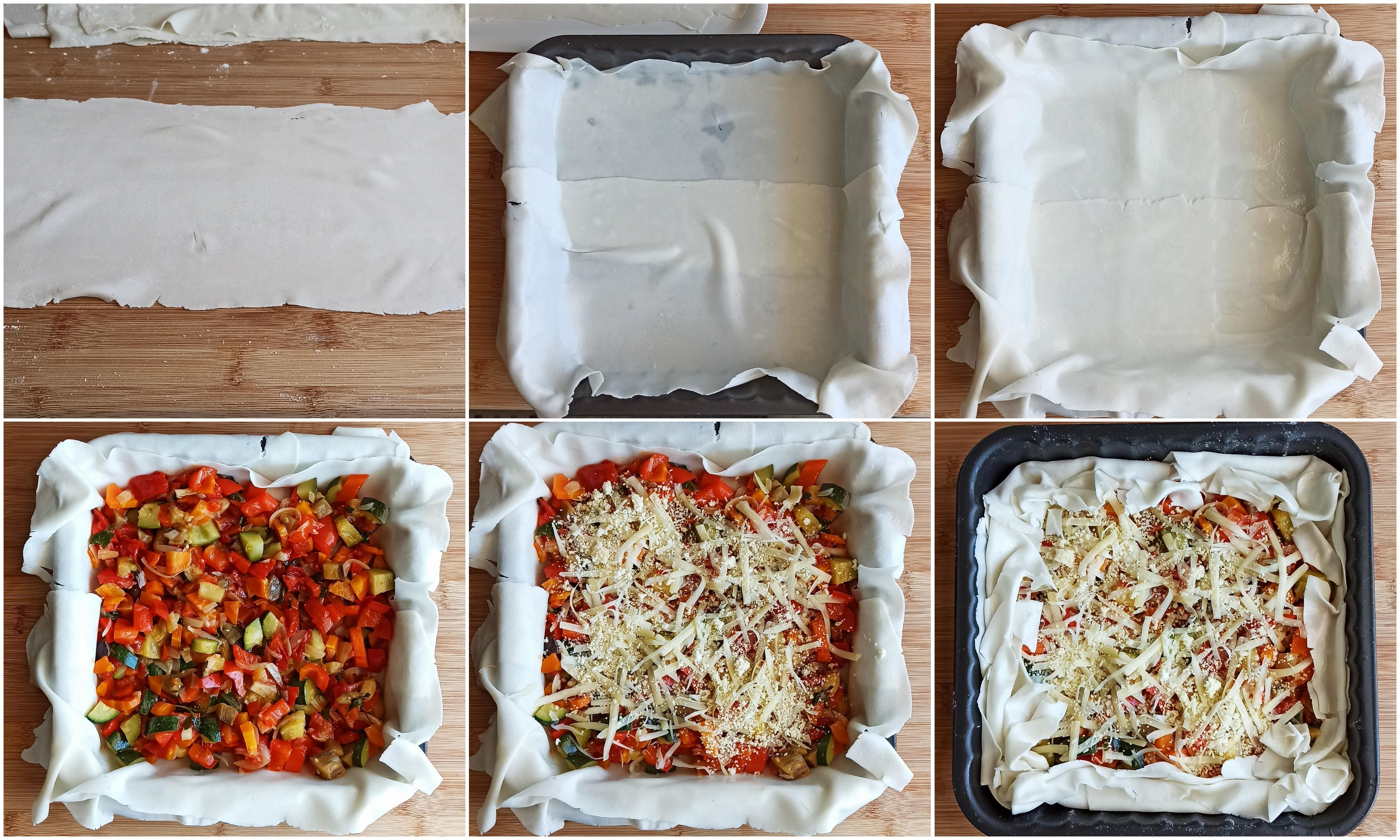Tarte de pâte filo sans gluten aux légumes - La Cassata Celiaca