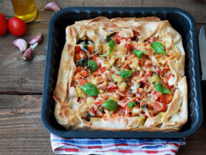 Torta di pasta fillo senza glutine con verdure - La Cassata Celiaca