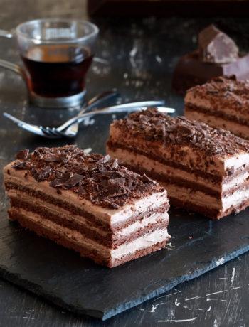 Entremets individuels au chocolat sans gluten - La Cassata Celiaca
