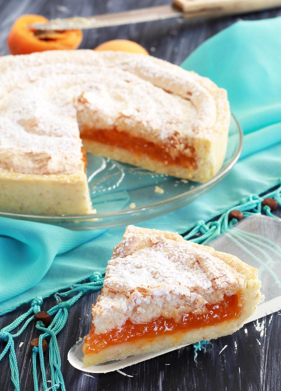 Crostata di albicocche o Fénétra toulousaine ma gluten free - La Cassata Celiaca