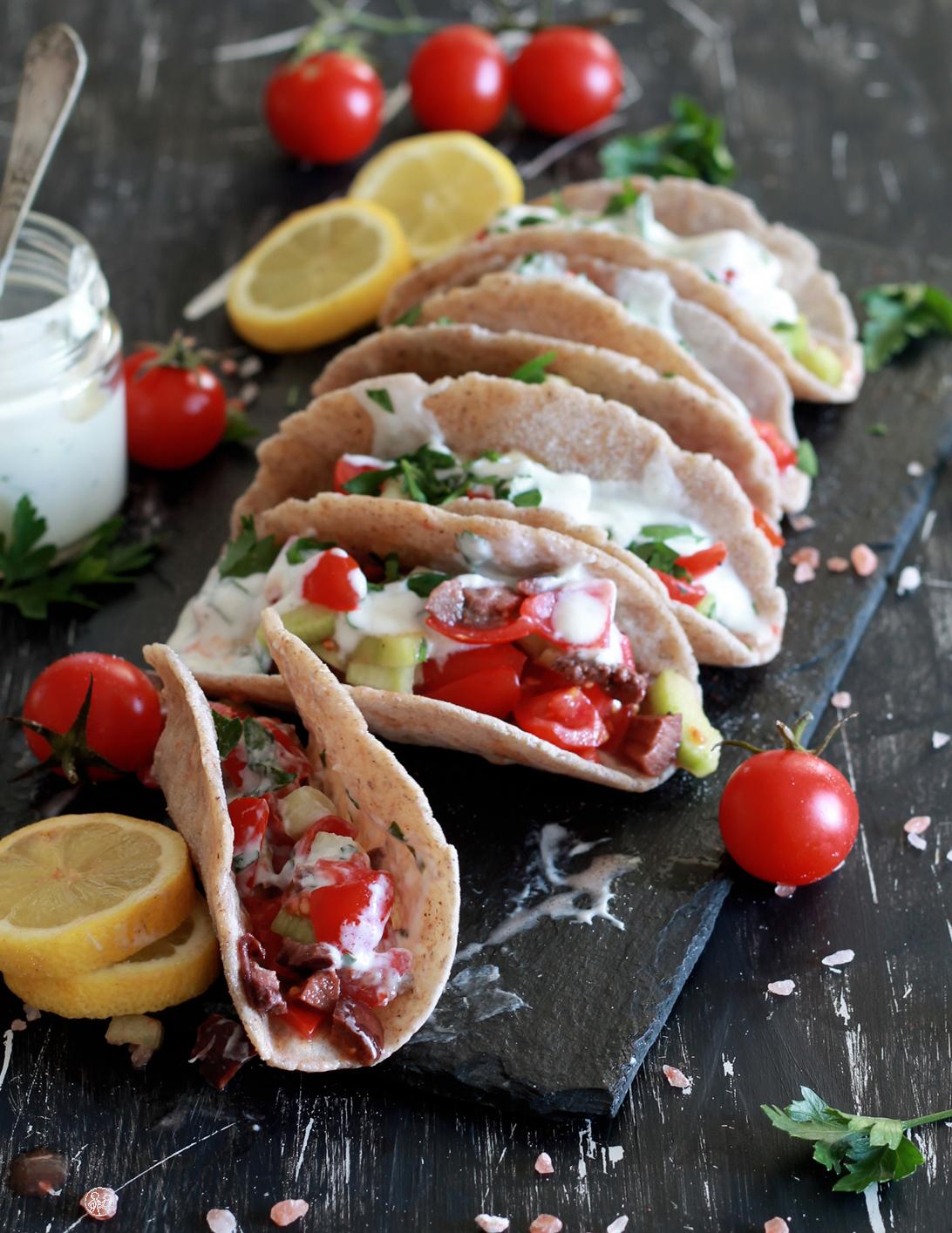 Faux tacos sans gluten au sarrasin - La Cassata Celiaca