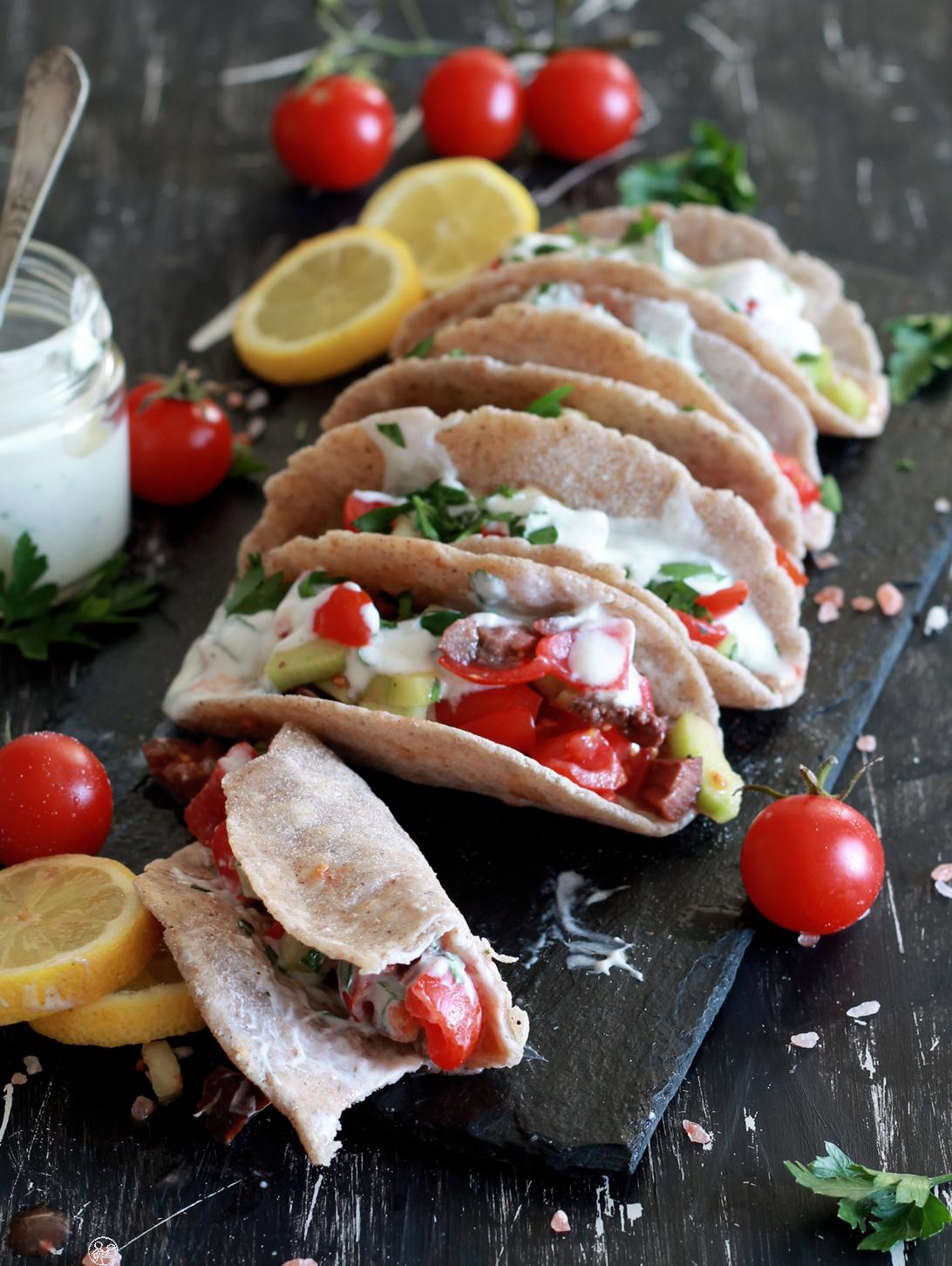 Finti tacos sFinti tacos senza glutine al grano saraceno - La Cassata Celiacaenza glutine al grano saraceno - La Cassata Celiaca