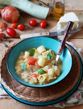 Minestra di pasta e zucchina siciliana senza glutine - La Cassata Celiaca