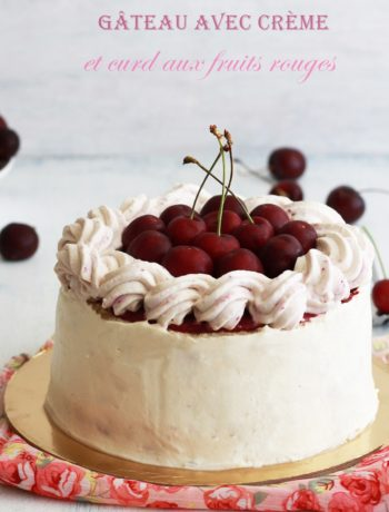 Gâteau avec crème diplomate et cerises - La Cassata Celiaca