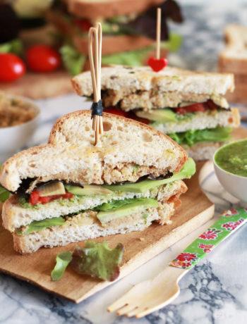 Sandwich avec avocado et houmous sans gluten - La Cassata Celiaca