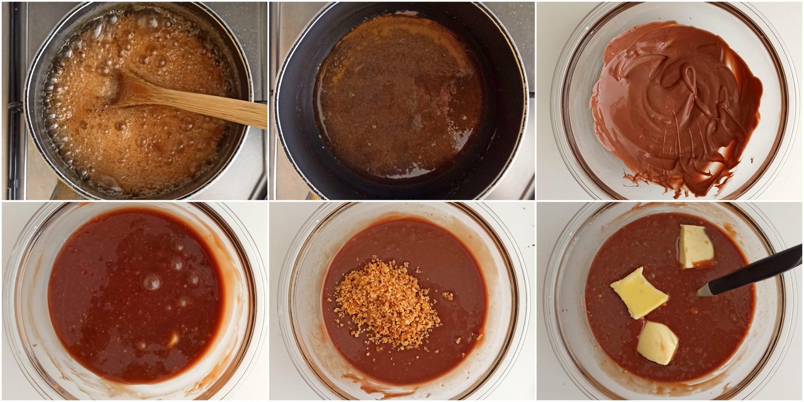 Barres choco-caramel sans gluten - La Cassata Celiaca