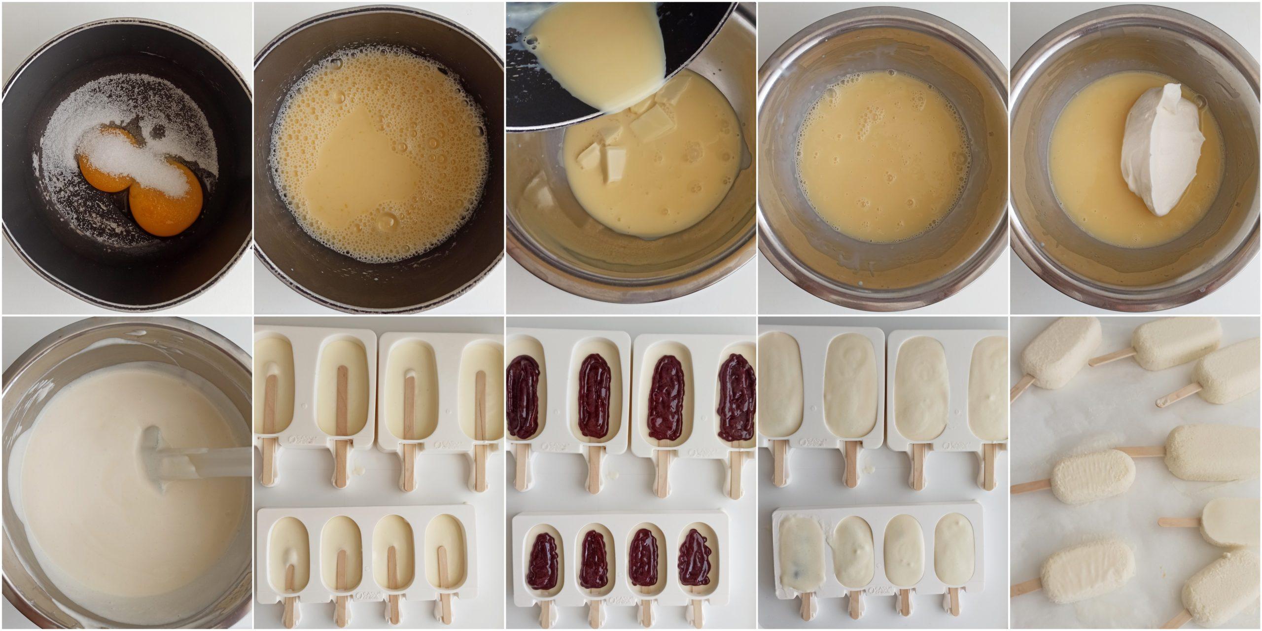 Gelato al latte condensato e frutti di bosco - La Cassata Celiaca