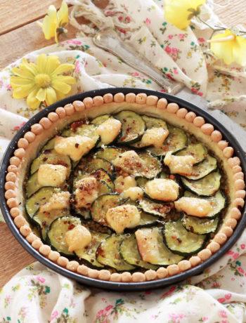 Tarte aux courgettes et pesto sans gluten - La Cassata Celiaca