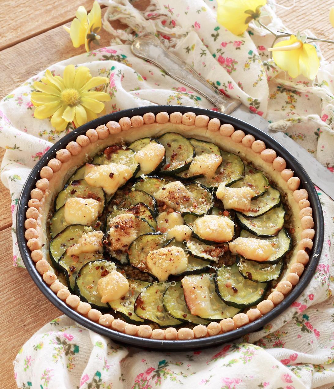 Torta di zucchine e pesto senza glutine - La Cassata Celiaca