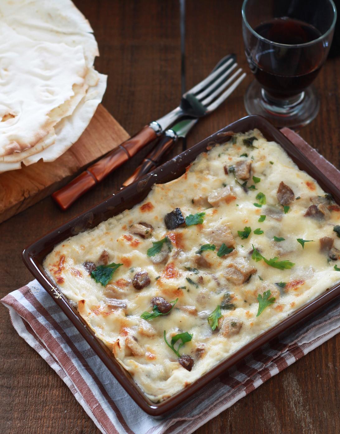 Sformato di pane carasau e funghi senza glutine - La Cassata Celiaca