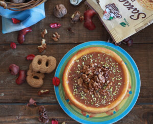 Cheesecake aux noix et caramel sans gluten - La Cassata Celiaca