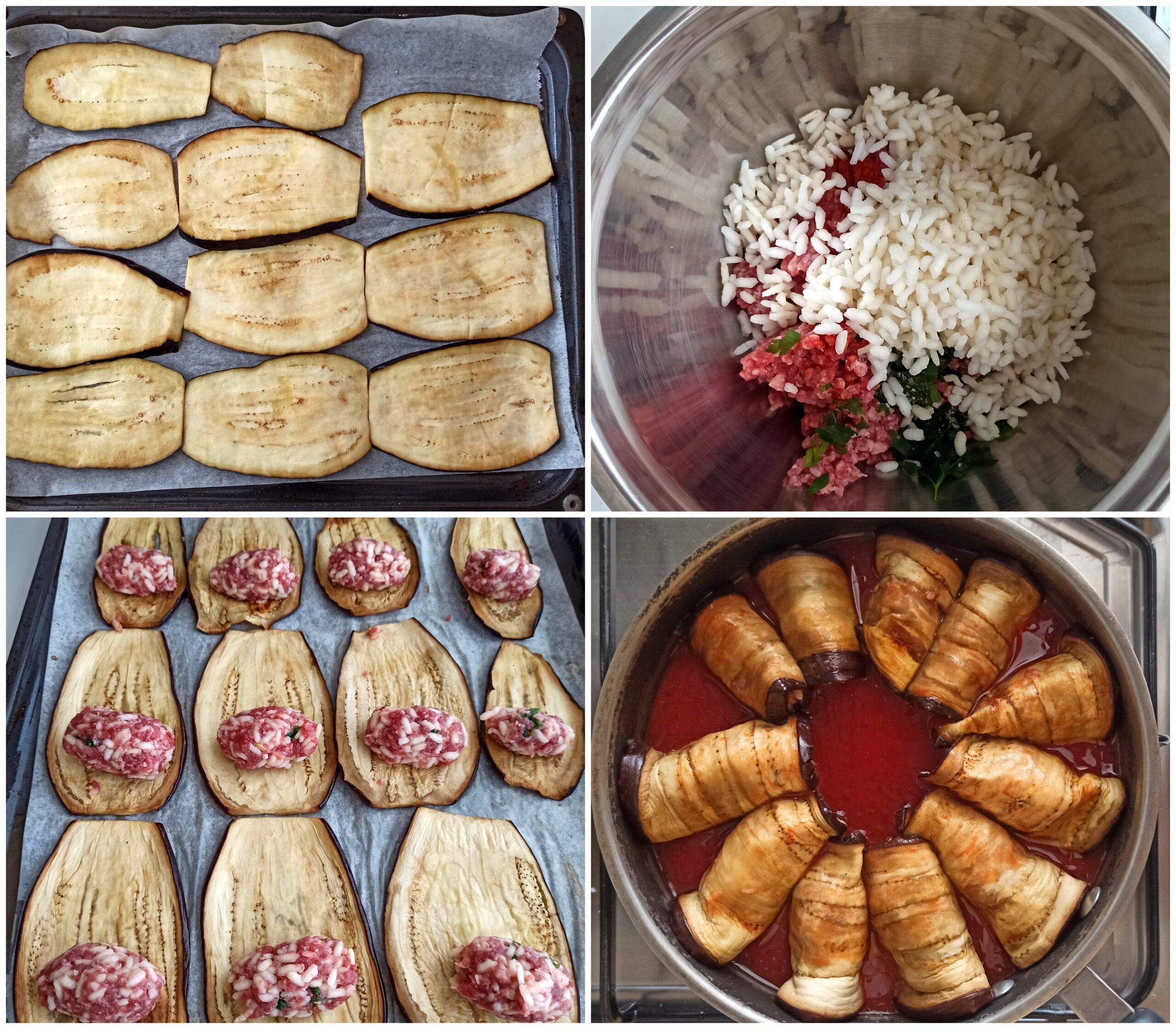 Roulades d'aubergine avac la viande - La Cassata Celiaca
